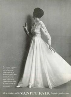 Searching for vanity fair 1960s Fashion, Fashion Show, Vintage Fashion, Fashion Outfits, Vintage Lingerie, Women Lingerie, Vanity Fair Lingerie, Bridal Gowns, Wedding Gowns