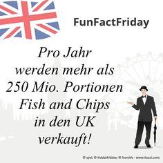 #FunFactFriday bei THE BRITISH SHOP: Pro Jahr werden mehr als 250 Mio. Portionen Fish and Chips in den UK verkauft!