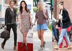 Stars getting there Isabel Marant Suede ankle boots on...Love