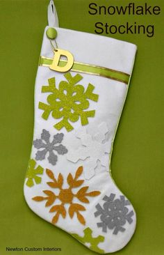 DIY Christmas Stocking from NewtonCustomInteriors.com.  Learn how to make this fun Christmas stocking with this step-by-step sewing tutorial.