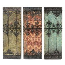 3 Piece Nadia Metal Plaque Wall Decor Set