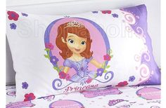 "Your little lady will love this girl's ""Sofia the First"" standard pillowcase by Disney Junior. A durable cottony blend and a design featuring Sofia's face and the words ""Princess in Training"" makes this pillowcase fit for a princess. Dimensions: 20"" W x 30"" L .  To order : http://www.shopaholic.com.ph/new.html#!/~/product/id=37716140"