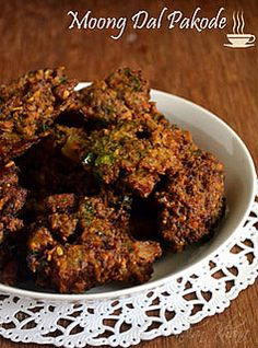 Moong-Dal Pakoda - Gluten Free, Vegan