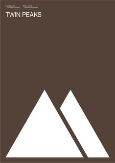 Albert Exergian's Minimalistic Posters for Television Shows: Twin Peaks Minimal Movie Posters, Minimal Poster, Film Posters, Graphic Posters, Retro Posters, Audrey Horn, Twin Peaks Poster, David Lynch Twin Peaks, Poster Series