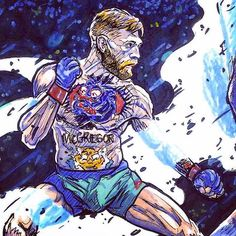 Conor McGregor artwork : if you love #MMA, you'll love the #UFC & #MixedMartialArts inspired fashion at CageCult: http://cagecult.com/mma