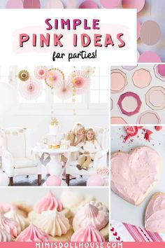 Pink Themed Party Food and Decor Pinkalicious + Perfect Pink Party Ideas. I'm sharing some pretty party ideas today for your pretty pink parties. If you have a girly girl or are planning a pretty pink baby shower...you will love these fun and festive pink party decorations and food ideas! Birthday Party Treats, 1st Birthday Party For Girls, Pink Birthday, Pink Party Decorations, 1st Birthday Party Decorations, Pink Popcorn, Pink Starburst, Pink Cotton Candy, Pink Parties