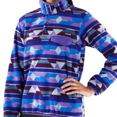 Patagonia Blue and purple geometric design, print NOT sold anymore! Needs to go, nothing wrong with it though Patagonia Jackets & Coats
