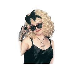 Adult 80's Pop Star Costume Wig, Women's, Yellow