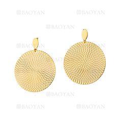 pendientes de moda dorado en acero inoxidable -SSEGG054412