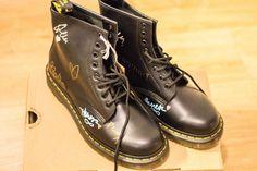 SIGNED BY WARPAINT Dr Martens 1460 SMOOTH Black UK Size 7   eBay