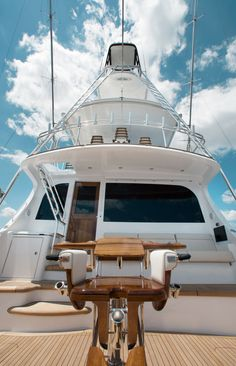 The Hatteras is a workhorse for the angler who demands more from a premium sportfishing convertible yacht. Ocean Fishing Boats, Sport Fishing Boats, Hatteras Yachts, Cali, Fishing Yachts, Fishing Chair, Float Your Boat, Yacht Interior, Cool Boats