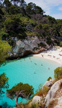 The sun-bleached shore of Menorca, Spain. Be sure to click the link to read all about this wonderful place! Brisa Marina, Menorca, Outdoor Travel, Costa, Islands, Calla Lilies, Beach, Travel, Island