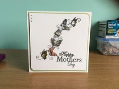Butterfly border stamp by honeydoo crafts Birthday Greetings, Birthday Cards, Honey Doo Crafts, Making Cards, Butterfly Cards, Card Designs, Cool Cards, Homemade Cards, Happy Mothers Day