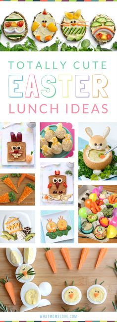 Easter Food Ideas for Kids | Lunch recipes that are healthy, fun and easy to make for your children. Plus breakfast, snacks and treats!