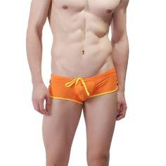2016 Hot Men swimwear Men's Boxer Briefs Swimming Swim Shorts Trunks Underwear ISP