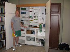 reloading bench built inside closet - Google Search