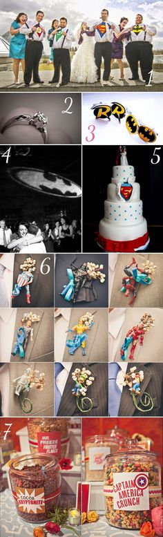 Theme mariage geek - http://www.instemporel.com/blog/index/billet/10786_deco-mariage-geek #Superheros