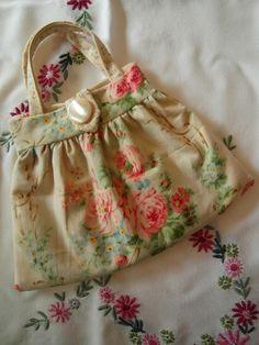 handmade handbag - rare French fabrics