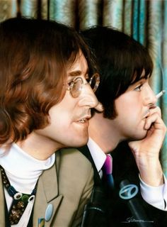 The Beatles, John and Paul CC @osky_sch