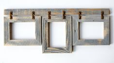 Barnwood Collage Frame. 3 5x7 Multi Opening Frame. by rustymill