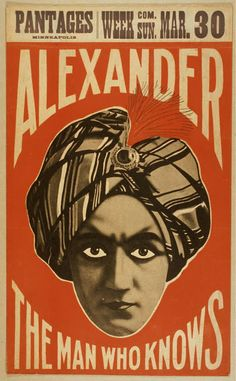 Alexander The Man Who Knows, Pantages Minneapolis - Vintage Magic Theater Poster--inspiration