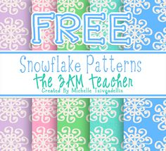 Classroom Freebies Too: FREE Snowflake Digital Backgrounds by The 3AM Teacher