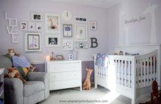 Giraffe Purple Nursery