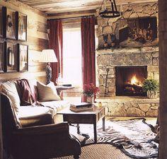 elegant log home room...looks like @Brandi Dickerson