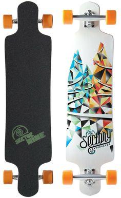 Sector 9 Faultline Complete Longboard Skateboard With Paris Trucks Orangatang Wheels: Sports & Outdoors