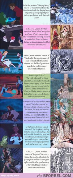 7 Comparisons Of Disney Movies Vs The Actual Stories… I knew about most of these, sleeping beauty was a surprise! Holy smokes...