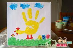 HouseSisters DIY mit Kindern: selbstgemachte, günstige Fingerfarben. Ostergeschenk, Geschenk mit Handabrdücken zu Ostern, Basteln mit Kind zu Ostern