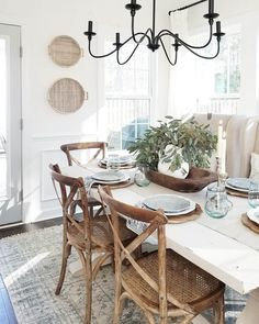 Get inspired by Farmhouse Dining Room Design photo by Wayfair lets you find the designer products in the photo and get ideas from thousands of other Farmhouse Dining Room Design photos. Interior Modern, Interior Exterior, World Of Interiors, Cottage Dining Rooms, Farmhouse Dining Room Lighting, Farmhouse Chandelier, Coastal Dining Rooms, Modern Farmhouse Lighting, Modern Farmhouse Interiors