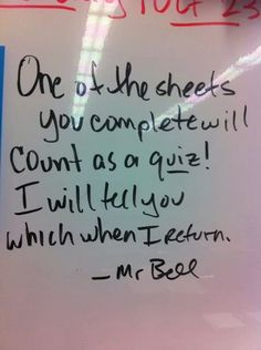 The right way to prep your class for a substitute. I think this just might be genius!