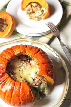 Pumpkin Stuffed with Everything Good: Recipe by Dorie Greenspan / The Palate Princess Pumpkin Recipes, Fall Recipes, Dorie Greenspan, Famous Recipe, Everything Is Awesome, Original Recipe, Main Dishes, Veggies, Favorite Recipes