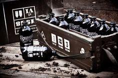 Audun Stien packaging design for Mac Frankie beer - bottles shaped like grenades http://www.prikkenoverstien.com/About #design
