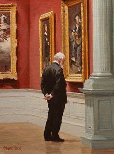 The Gentleman by Pauline Roche, Oil ~ 10x8