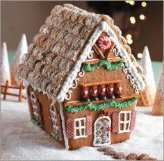 printable gingerbread cottage pattern