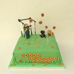 Clay pigeon shooting cake