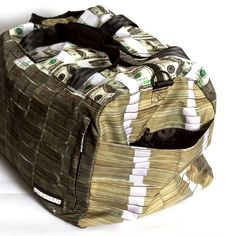 money stacks bag