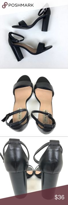 Steve Madden sz 9 Carrson Black Ankle-strap sandal