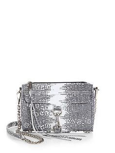 Mini M.A.C. Lizard-Embossed Leather Convertible Crossbody Bag