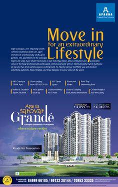 Aparna Sarovar Grande -Classic Tower - TOI 10 Jan 2016