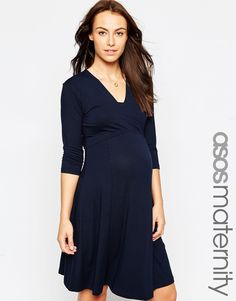 e7636ed3491 ASOS Maternity Mini Dress with V Neck at asos.com. Femme GrossesseRobeDernières  TendancesMaternité ...