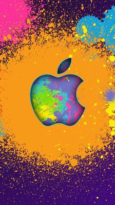 Ink Apple logo iPhone 6 Wallpapers