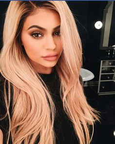 kylie jenner, blonde, and hair image