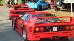 Cars and Coffee Biella 2016 at Top Gear IT base - 2: 2 F40, F50, Aventad...