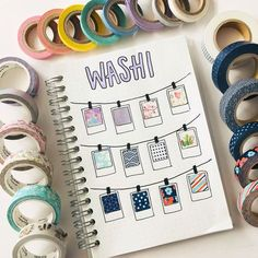 Bullet Journal Washi tape display page by @studychase