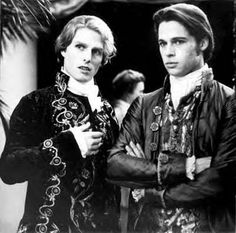 "Tom Cruise and Brad Pitt as Lestat and Louis in ""Interview with a Vampire"""