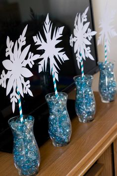 Frozen Snowflake Center Piece/Decor by SpinningWheelSupply on Etsy, $10.00