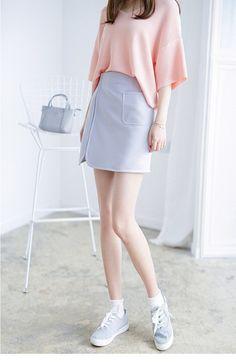 Korean Fashion - Single color skirt - AddOneClothing - 2
